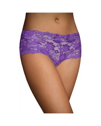 Chiloti sexy din dantela violet