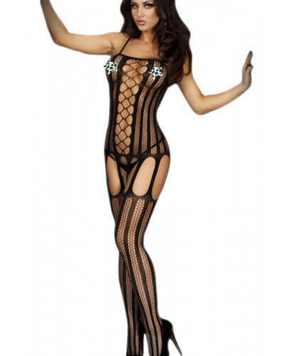 Bodystocking plasa model zig-zag