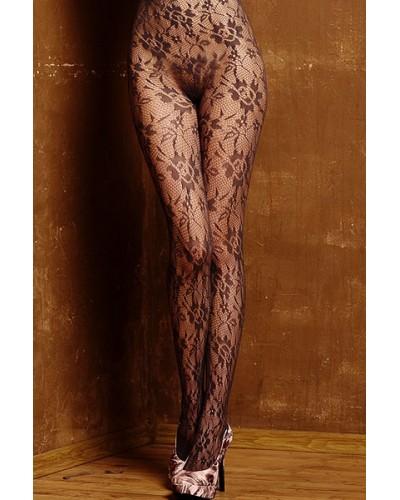 Ciorapi sexy cu model floral